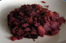 Receta de lombarda con pasas piñones y manzana