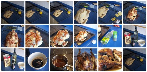 Receta de pollo asado caoba paso a paso
