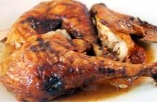 Receta de pollo asado caoba