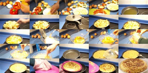 Receta de tortilla de patata vegetal paso a paso