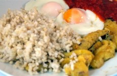 Arroz integral a la cubana dietético