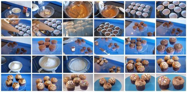 Receta de cupcakes de chocolate y avellana paso a paso