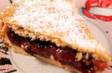 Receta de pastel o pie de cerezas