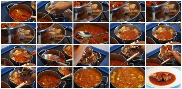 Receta de bonito con tomate paso a paso