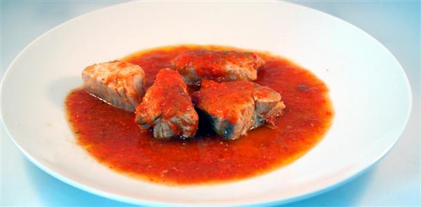 Receta de bonito con tomate