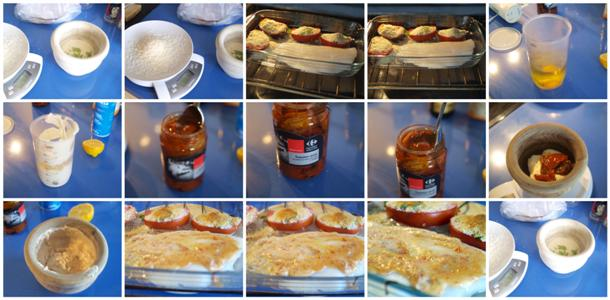 Receta de fletán con tomates y parmesano paso a paso