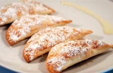 Receta de empanadillas de natillas de leche, huevo y vainilla