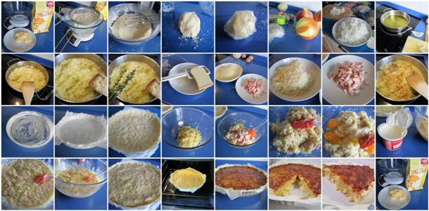 Receta de quiche de cebolla caramelizada y queso gruyere sin gluten paso a paso
