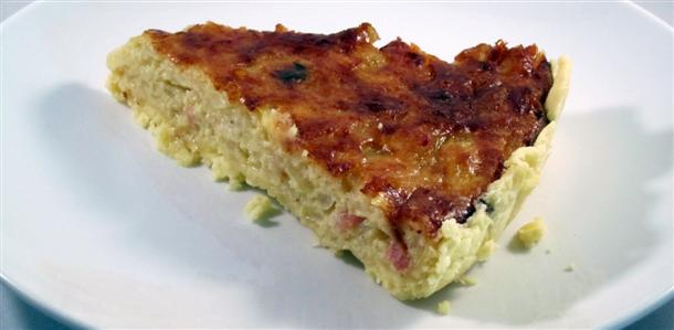 Receta de quiche de cebolla caramelizada y queso gruyere sin gluten