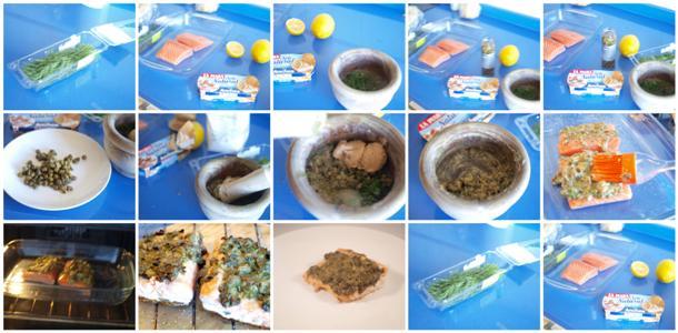 Receta de salmón con salsa de eneldo y alcaparras paso a paso