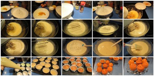 Receta de magdalenas caseras de naranja y canela paso a paso