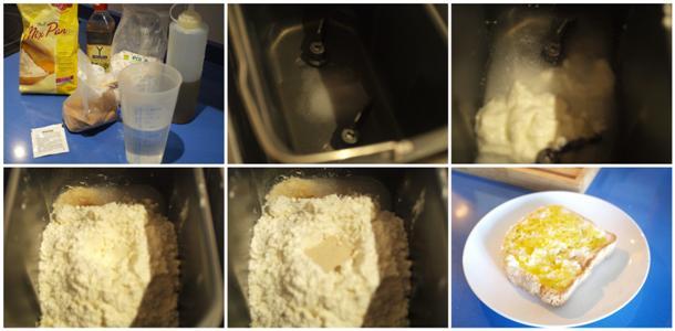 Receta de pan con yogur sin gluten panificadora paso a paso