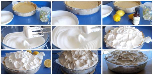 tarta de limón y merengue paso a paso