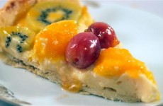 Receta de tarta de frutas con crema pastelera