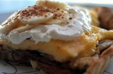 Receta de banana cream pie