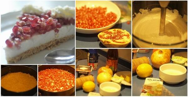 Receta de tarta de queso y granada paso a paso
