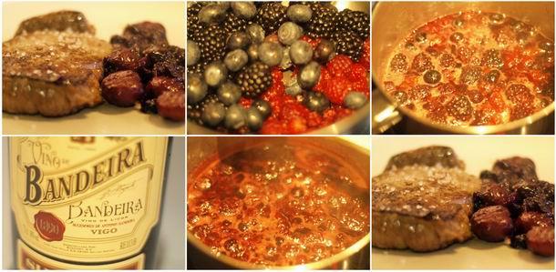 Receta de solomillo con salsa de frutos rojos y castañas paso a paso