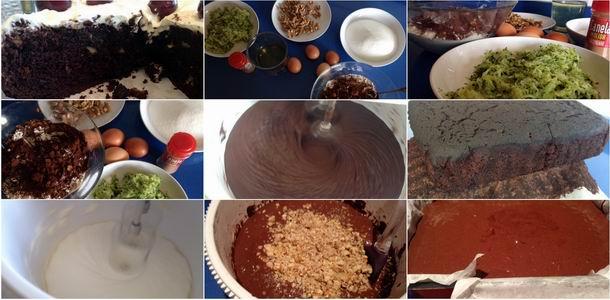 Tarta chocolate y calabacín paso a paso