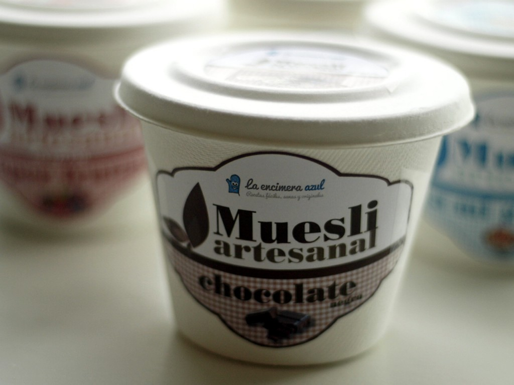 muesli de chocolate negro