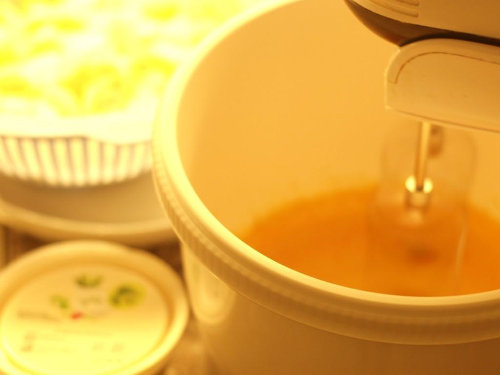crema de nata y huevo