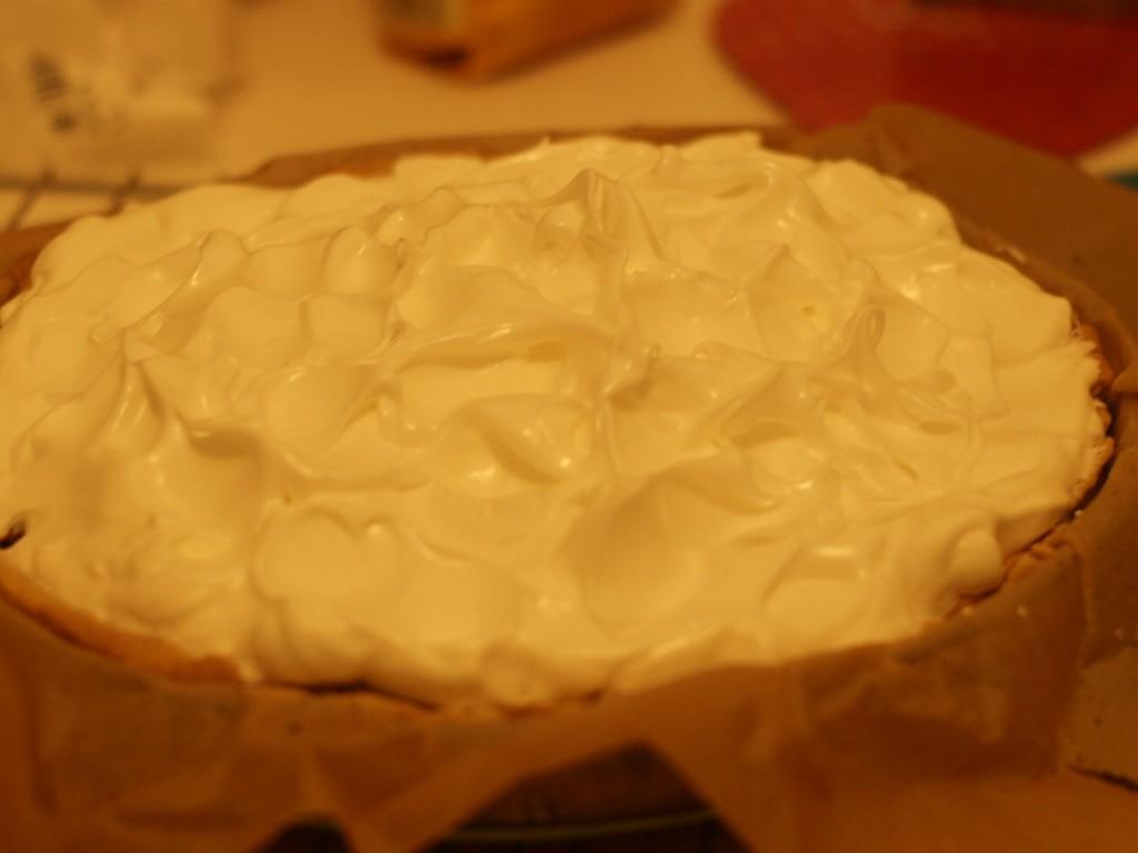 tarta de ruibarbo con el merengue