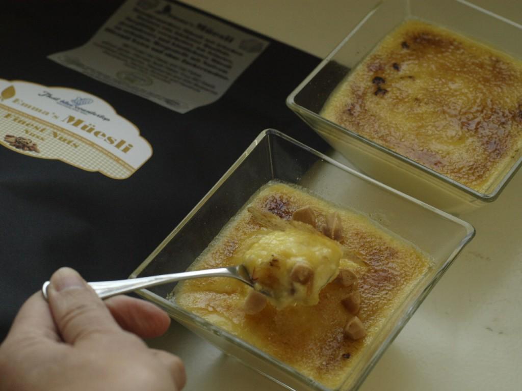 Sous Vide Creme Brulee a la Manzanilla con Frutos Secos