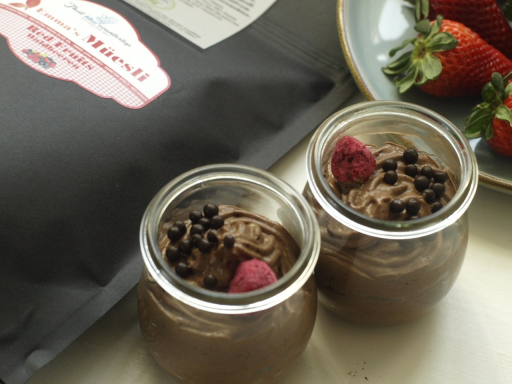 Mousse de Chocolate con frutos del bosque